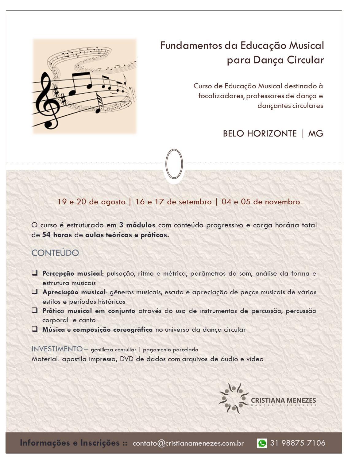 Fundamentos da Educação Musical BH 2017